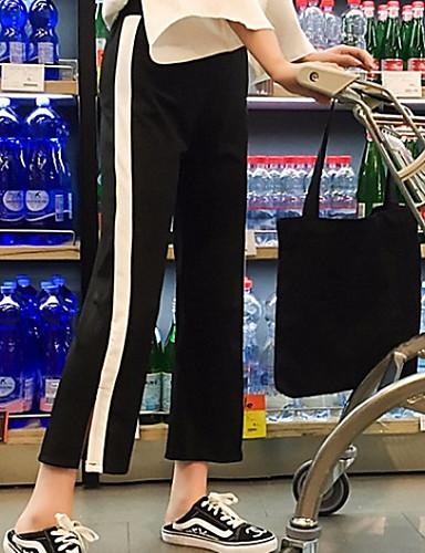Competente Per Donna Per Sport - Essenziale A Zampa - Pantaloni Della Tuta Pantaloni - A Strisce Nero #07272167 Con Una Reputazione Da Lungo Tempo