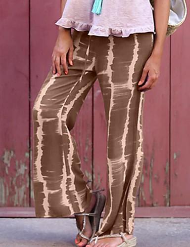 abordables Pantalons Femme-Femme Basique Mince Chino Pantalon - Imprimé Fleur Hiver Rouge Gris Violet M L XL