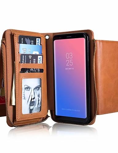 Etui Käyttötarkoitus Samsung Galaxy S9 / S9 Plus / S8 Plus Lomapkko / Korttikotelo / Iskunkestävä Suojakuori Yhtenäinen Kova aitoa nahkaa