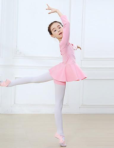 preiswerte Ballettbekleidung-Tanzkleidung für Kinder / Ballett Austattungen Mädchen Training / Leistung Baumwolle Schleife(n) / Kombination Langarm Normal Kleid / Hosen