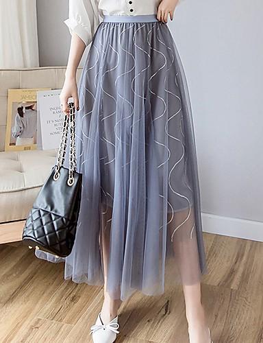 c616da20cdb γυναικεία midi μια φούστα γραμμή - συμπαγές χρώμα. $30.02. USD $20.99 · Χαμηλού  Κόστους Γυναικείες Φούστες-Γυναικεία ...
