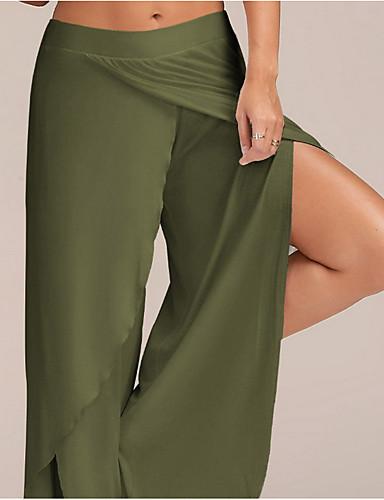 abordables Pantalons Femme-Femme Basique Grandes Tailles Mince Ample Pantalon - Couleur Pleine Noir Vin Bleu clair M L XL