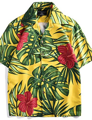Camicia - Taglie Ue - Usa Per Uomo Con Stampe, 3d - Pop Art Verde L #07293000 Imballaggio Di Marca Nominata