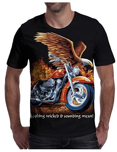 ef9bcb7a4d0cb abordables Camisetas y Tops de Hombre-Hombre Estampado Camiseta Geométrico    3D