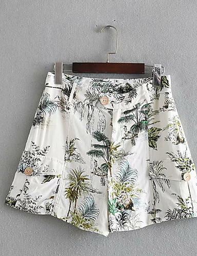 abordables Pantalons Femme-Femme Chic de Rue Short Pantalon - Fruit Blanche XS S M