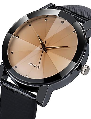 ebe86c253 رجالي ساعة فستان كوارتز جلد أسود 30 m مقاوم للماء ساعة كاجوال تقليد الماس  مماثل كاجوال موضة - أبيض أسود