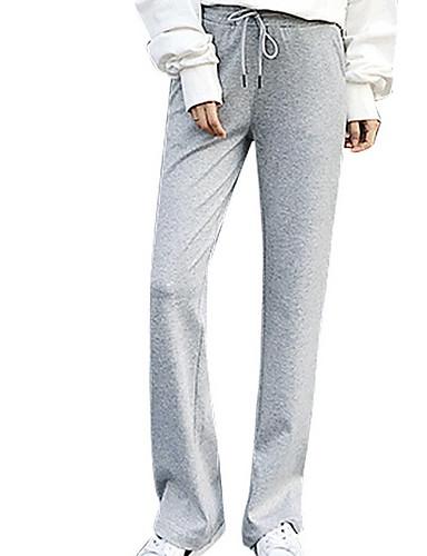 abordables Pantalons Femme-Femme Sportif Grandes Tailles Mince Joggings Pantalon - Couleur Pleine Noir Gris XXL XXXL XXXXL