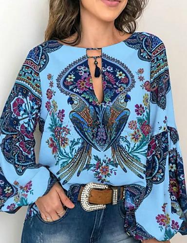 billige Topper til damer-Store størrelser Skjorte Dame - 3D Hvit XL
