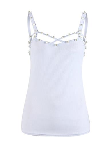 billige Topper til damer-Grime T-skjorte Dame - Ensfarget, Perler Svart