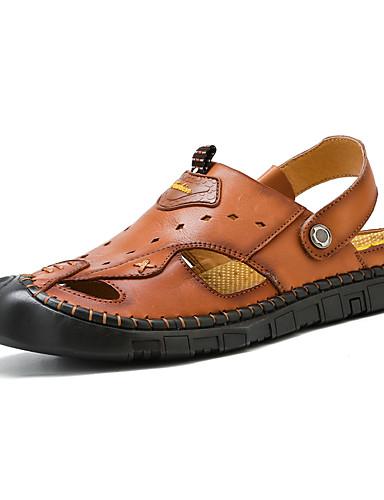 caefa34521 Ανδρικά Παπούτσια άνεσης Νάπα Leather Ανοιξη καλοκαίρι Αθλητικό   Καθημερινό  Σανδάλια Αναπνέει Μαύρο   Καφέ