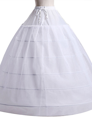 cheap Historical & Vintage Costumes-Bride Classic Lolita 1950s Dress Petticoat Hoop Skirt Crinoline Women's Girls' Costume White Vintage Cosplay Wedding Party Princess