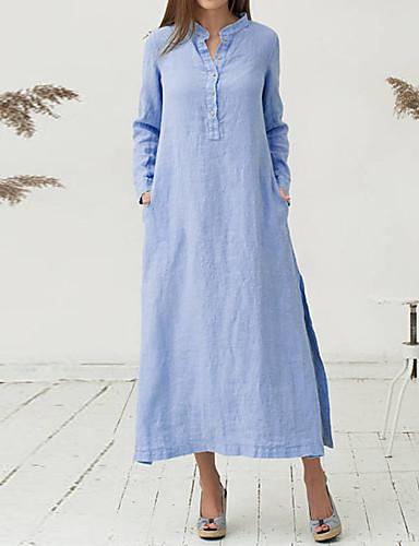 1c6fa501f48a Γυναικεία Γραμμή Α Φόρεμα - Μονόχρωμο Μίντι