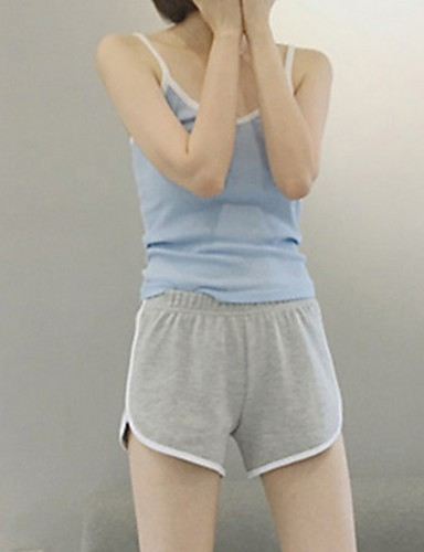 abordables Pantalons Femme-Femme Sportif Joggings Pantalon - Couleur Pleine Blanche Noir Gris M L