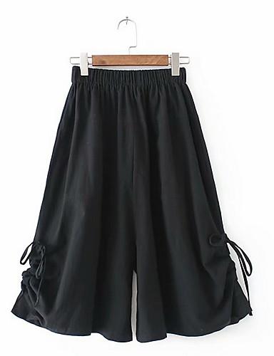 Adattabile Per Donna Essenziale A Zampa Pantaloni - Tinta Unita Rosso #07305716