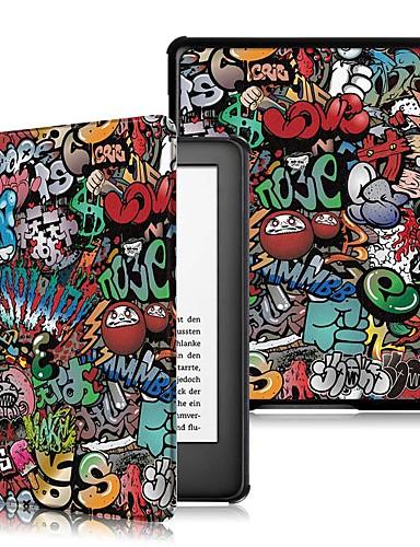 Etui Käyttötarkoitus Amazon Kindle Lite (2019) / Kindle PaperWhite 4 / Kobo Forma Iskunkestävä / Flip / Origami Suojakuori Sana / lause Kova PU-nahka