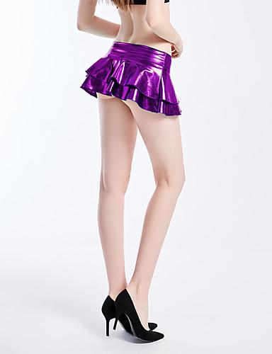 abordables Jupes-Femme Actif Mini Moulante Jupes - Couleur Pleine Noir Violet Rose Claire S M L