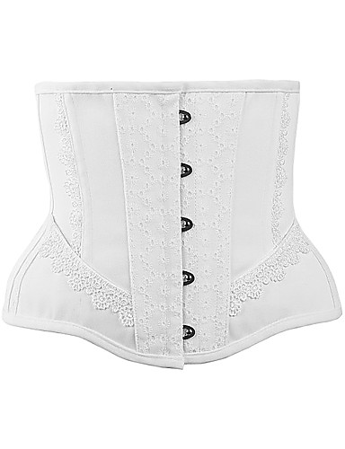 abordables Lingerie-Grandes Tailles Polyester / Coton Corset Sexy Couleur Pleine Mariage Couture en Dentelle