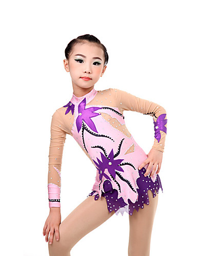 73ea80fb0b32 Rhythmic Gymnastics Leotards Artistic Gymnastics Leotards Women's Girls' Leotard  Ivory High Elasticity Handmade Diamond Look Shading Long Sleeve Competition  ...