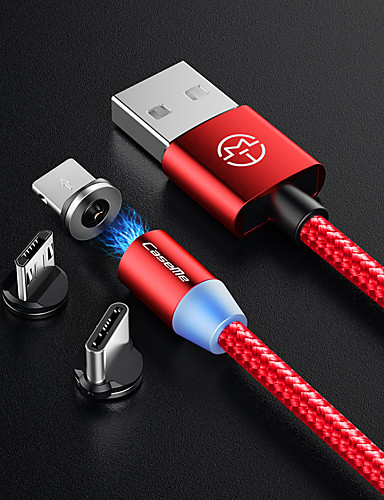 caseme android magnetisk lader kabel nylon telefon lading micro usb førte 1.0m (3ft) for samsung / huawei / sony / xiaomi / oppo / vivo