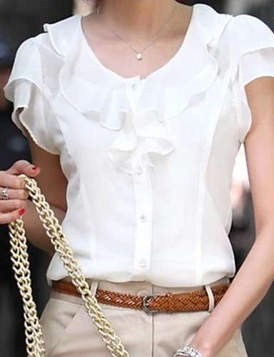 povoljno Ženske majice-Veći konfekcijski brojevi Bluza Žene Jednobojni Obala
