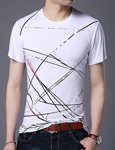 voordelige Heren T-shirts & tanktops-Heren Print T-shirt Katoen camouflage Ronde hals Zwart