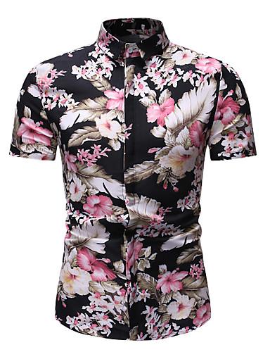 גיאומטרי בסיסי חולצה - בגדי ריקוד גברים דפוס קשת / שרוולים קצרים