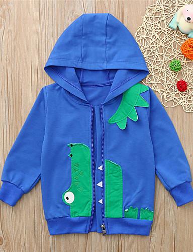 Děti / Toddler Chlapecké Základní Tisk Tisk Dlouhý rukáv Bavlna Mikinky Vodní modrá