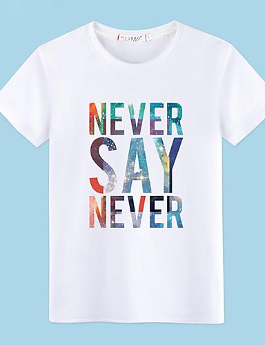 voordelige Heren T-shirts & tanktops-Heren Print T-shirt Katoen Portret Ronde hals Grijs