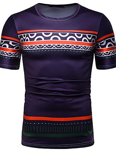 voordelige Herenbovenkleding-Heren Standaard Print T-shirt Grafisch Paars L