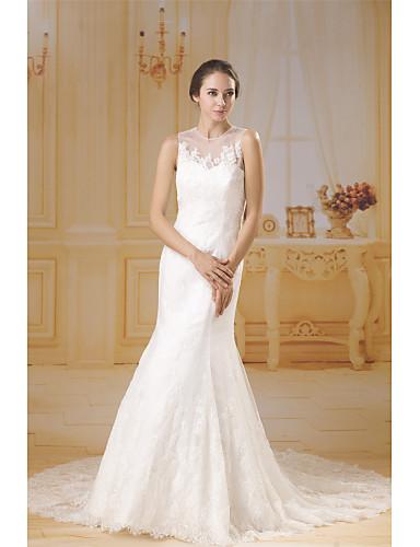 e241c297e Dos Piezas Joya   Escote Corazón Capilla Encaje   Satén   Tul Vestidos de  novia hechos a medida con Apliques   Encaje por ANGELAG