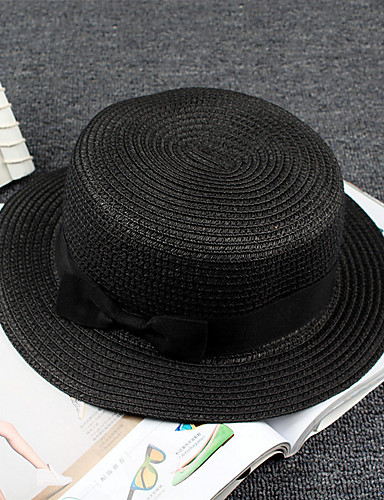 4306a92b9 Unisex Active Basic Cute Straw Floppy Hat Sun Hat-Color Block All Seasons  Beige Navy Blue Khaki