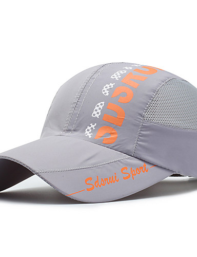 cheap Outdoor Clothing-Hiking Cap Ball Cap Hat 1 pc Breathable Ultraviolet Resistant Letter & Number Spandex Spring for Women's Unisex Camping / Hiking Baseball Traveling Light Grey / Stretchy
