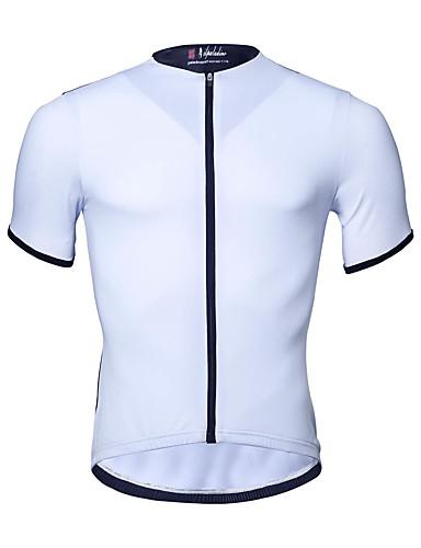 c6976b0bb1b4 Χαμηλού Κόστους Ρουχισμός Ποδηλασίας-ILPALADINO Ανδρικά Κοντομάνικο Φανέλα  ποδηλασίας - Λευκό Ποδήλατο Μπολύζες Ανθεκτικό στην
