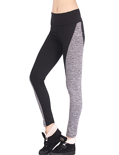 aedda57fed9b8 Women's Yoga Pants Sports Color Block Elastane Tights Leggings Bottoms  Running Fitness Gym Workout Activewear Moisture Wicking Butt Lift Tummy  Control Power ...