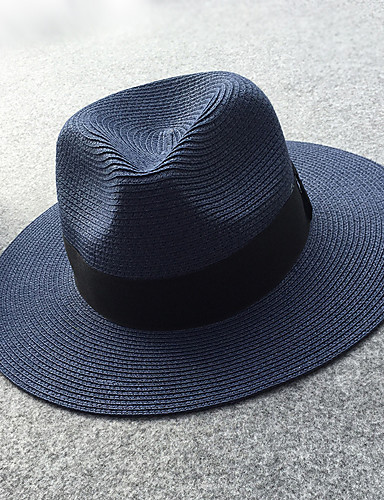 2c8e9626 Women's Work Active Basic Straw Straw Hat Sun Hat-Solid Colored Spring  Summer Navy Blue Pink / White Khaki