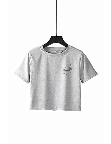 f7c0fefabfc7 Γυναικεία T-shirt Γαλαξίας Στάμπα Γκρίζο M.  12.86. USD  8.27 · Χαμηλού  Κόστους Γυναικείες Μπλούζες-Γυναικεία ...