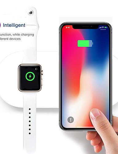 נייד 2 ב 1 צ'י אלחוטית טעינה בלוק עומד iwatch מטען עבור Apple Watch סדרה 2/3 iPhone x 8 8plus Samsung הערה גלקסי צ 'י מכשיר