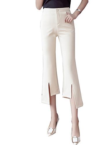 cheap Women's Pants-Women's Basic Chinos Pants - Solid Colored Black / White, Classic High Waist White Black L XL XXL