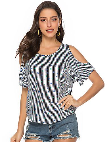 billige Dametopper-T-skjorte Dame - Galakse Grunnleggende Grå US12