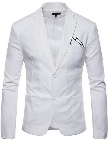 נייבי כהה / כחול סקיי / מרווה אחיד גזרה רגילה פוליאסטר חליפה - פתוח Single Breasted Two-button