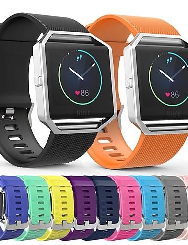 צפו בנד ל Fitbit Blaze פיטביט רצועת ספורט סיליקוןריצה רצועת יד לספורט