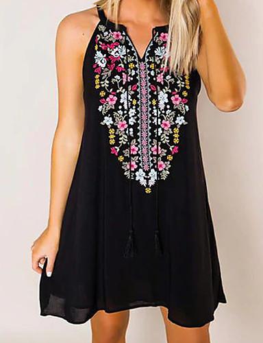 f402e8fb803 cheap Mini Dresses-Women's Vintage Shift Dress Black ...