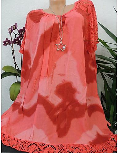 abordables Hauts pour Femmes-Chemise Grandes Tailles Femme, Graphique Imprimé Basique / Chinoiserie Ample Orange