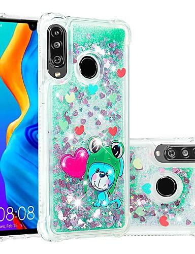 מגן עבור Huawei Huawei P20 / Huawei P20 Pro / Huawei P20 lite עמיד בזעזועים / נוזל זורם / שקוף כיסוי אחורי חיה / זוהר ונוצץ רך TPU / P10 Lite