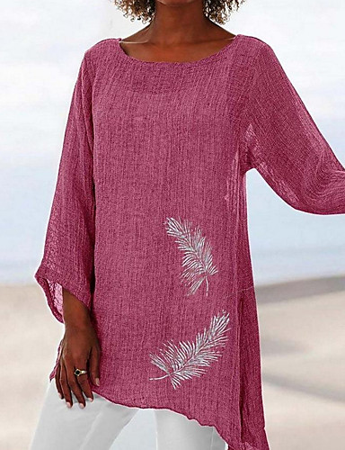 billige Dametopper-T-skjorte Dame - Dyr Brun US12