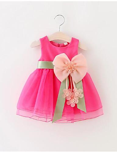 נסיכה באורך  הברך שמלה לנערת הפרחים  - פוליאסטר / טול ללא שרוולים עם תכשיטים עם פרטים מקריסטל / חגורה / בלוק צבע על ידי LAN TING Express