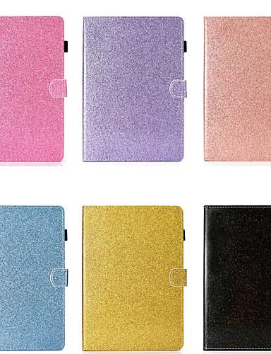 מגן עבור Samsung Galaxy Samsung Tab A 10.1 (2019) T510 מחזיק כרטיסים / עמיד בזעזועים / עם מעמד כיסוי מלא אחיד / זוהר ונוצץ קשיח עור PU