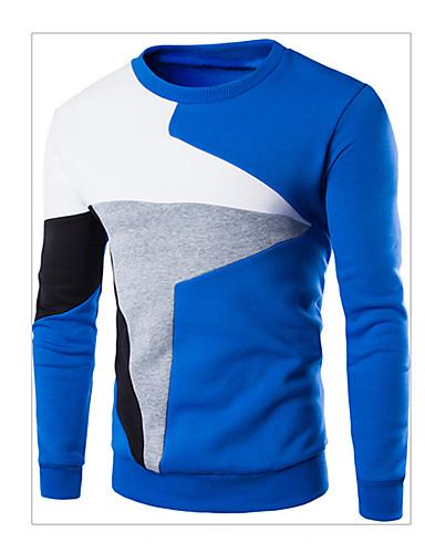 voordelige Herenhoodies & Sweatshirts-Heren Standaard Sweatshirt Kleurenblok