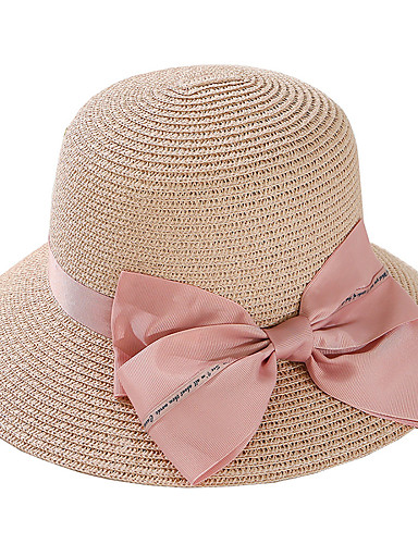 1a44f22c9 Women's Active Basic Cute Straw Straw Hat Sun Hat-Color Block Summer Fall  Beige Navy Blue Khaki