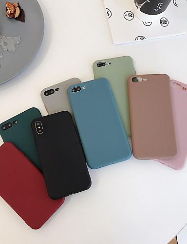 מארז עבור iPhone xr / iPhone xs מקס כריכה אחורית פרוסטד מוצק צבע רך tpu עבור iPhone 6 / 6plus / 6s / 6splus / 7/8 / 7plus / 8plus / x / xs / xsmax / xr